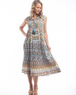 Kesäinen hihaton mekko Orientiquelta